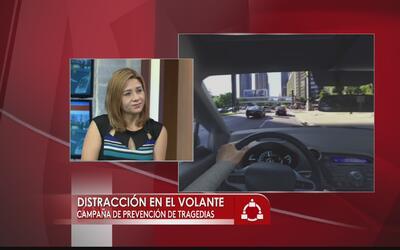 Campaña para evitar accidentes por distracciones al conducir