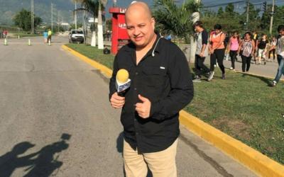 El periodista trabajaba para el canal HCH de Honduras, cubriendo la fuen...