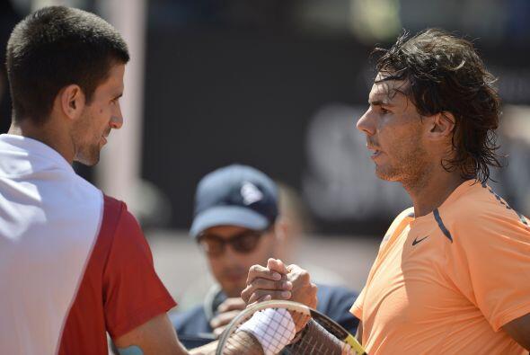Roma fue el escenario del tercer choque de este año entre ambos tenistas...