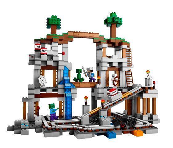 LEGO Minecraft The Mine.  Con este juego de bloques para armar, tu ni&nt...