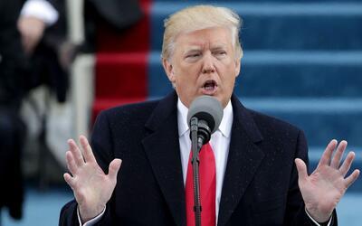 La primeras palabras como presidente de Donald Trump en dos minutos