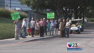 Protestan por ampliaciones de la I-635