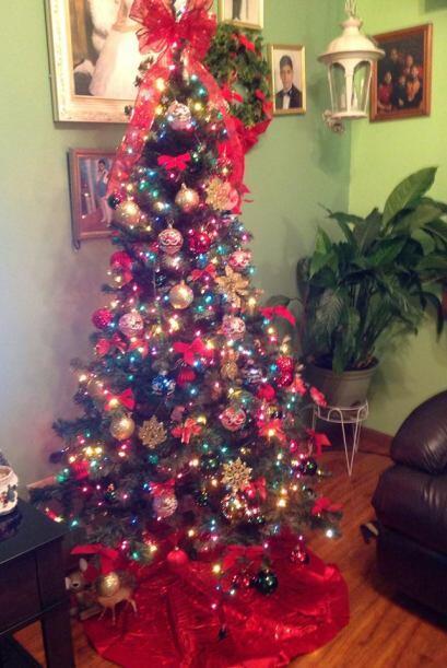 Jenny Estrada compartió una foto de su árbol de navidad.