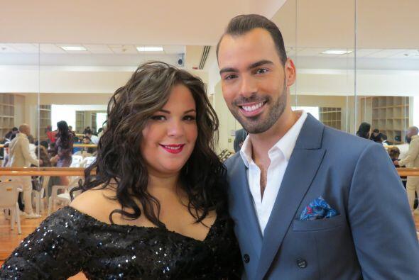 Yazaira López y Arias Martin, en el último ensayo antes del show.