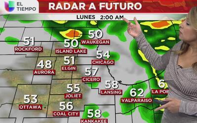 Continuarán las lluvias este lunes primero de mayo en Chicago
