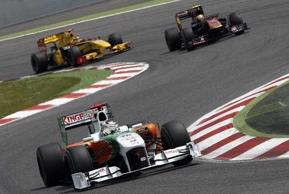 Force India, Toro Rosso y Renault se pelean la parte media del clasifica...