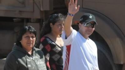 El minero Esteban Rojas fue el número 18 en ser rescatado de la mina San...