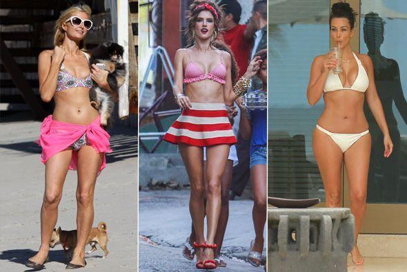 Con tanto calor las celebridades más sexys se han despojado de su ropita...