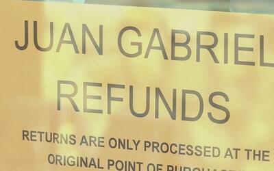 Fánaticos prefieren quedarse con los boletos del concierto de Juan Gabriel