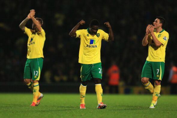 En el último partido del día el Norwich City alcanz&oacute...