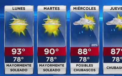Temperaturas extenuantes continúan dominando el sur de Florida