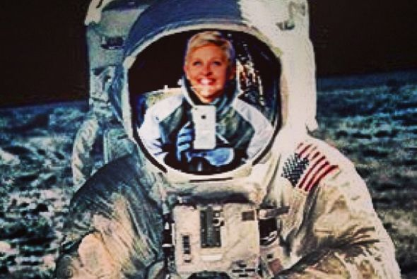 Y Ellen DeGeneres bromeó que fue al espacio.  Mira aquí los videos más c...