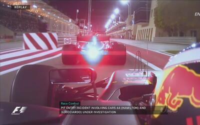 Esta frenada le costó el GP de Bahréin a Lewis Hamilton