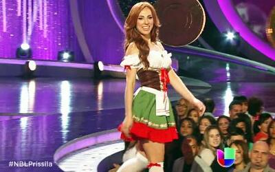 Prissila Sánchez trastabilló en la pasarela de Nuestra Belleza Latina
