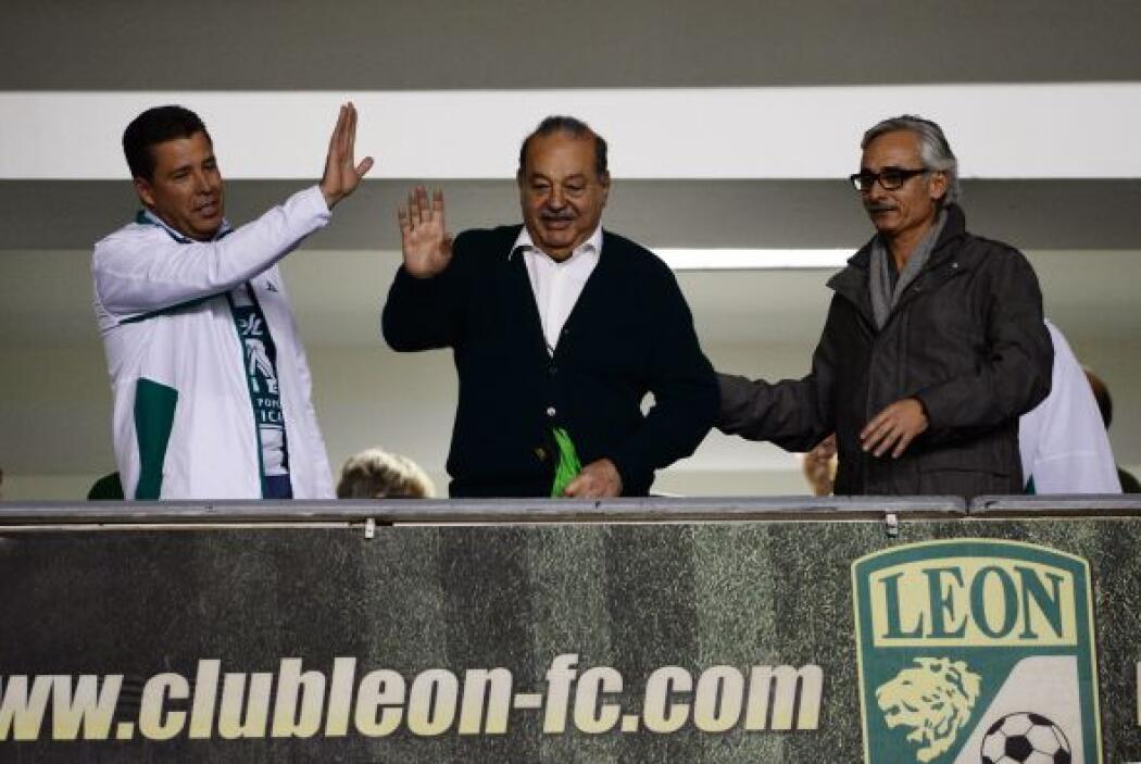 Carlos Slim se dio cita en el Nou Camp.