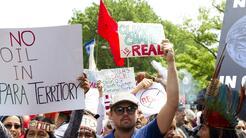 El actor Leonardo Di Caprio en la marcha de Washington DC