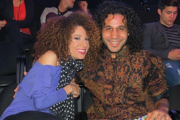 Joyce con Frank Francisco en los ensayos de la cuarta semana.