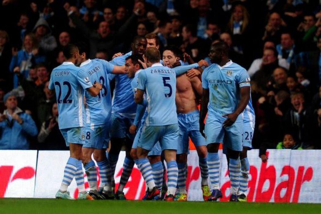 Todo el estadio gritó el gol de Nasri, que valía el triunfo por 2-1, los...