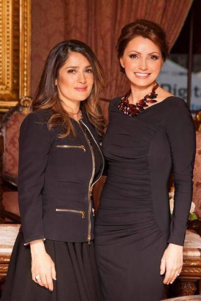 Angélica Rivera y Salma Hayek se reunieron en la cena que se realizó en...