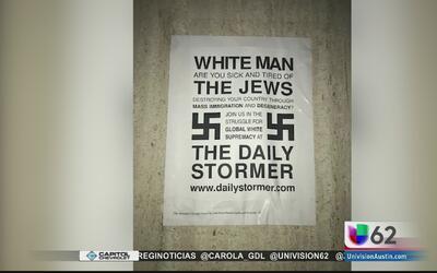 Aparecen más carteles antisemitas en la Universidad de Texas State en Sa...