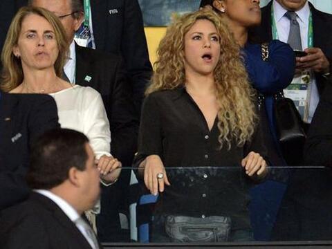 La colombiana llegó muy optimista al estadio Maracaná para...