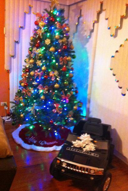 Miriam Rivera también compartió una foto del arbolito de s...