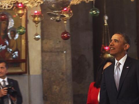El presidente de EEUU, Barack Obama, abandonó la ciudad de Belén tras un...