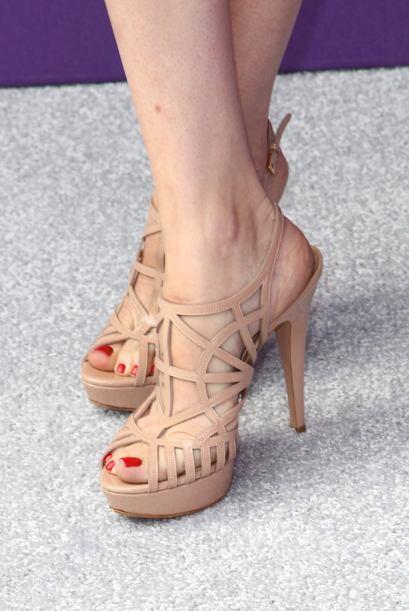 La actriz adora usar zapatillas de tacón y cuando son descubiertas, siem...