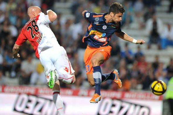 Parece que Giroud, del Mónaco, y Pouygrenier, del Montpellier, en...