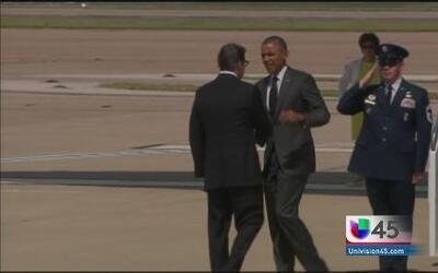 Obama y Perry sí se vieron la cara