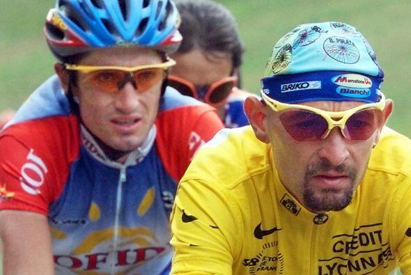 El Tour de 1998 fue ganado por el italiano Marco Pantini, tercero el año...