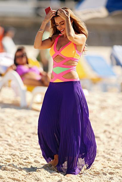 Sofía Vergara en traje de baño, en Australia. Mira aqu&iac...