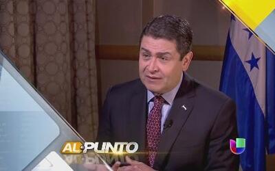 El presidente de Honduras, Juan Orlando Hernández, critica al gobierno d...