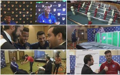 Detrás de cámaras del día de medios de la MLS