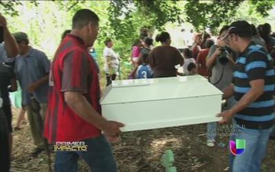 Realizaron sepelio de la bebé asesinada por su padre