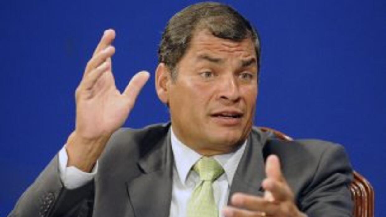 El presidente de Ecuador, Rafael Correa, negó haber recibido dinero de l...