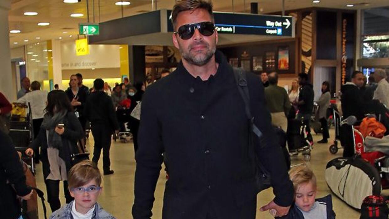 Ricky y sus gemelos Matteo y Valentino