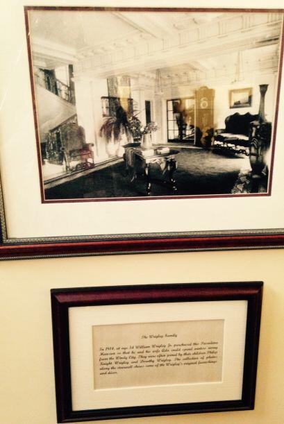 La mansión perteneció a la millonaria familia  Wrigley originarios de Ch...