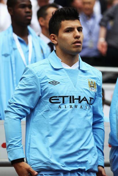 El atacante argentino Sergio Agüero, gran refuerzo del City, inici&...