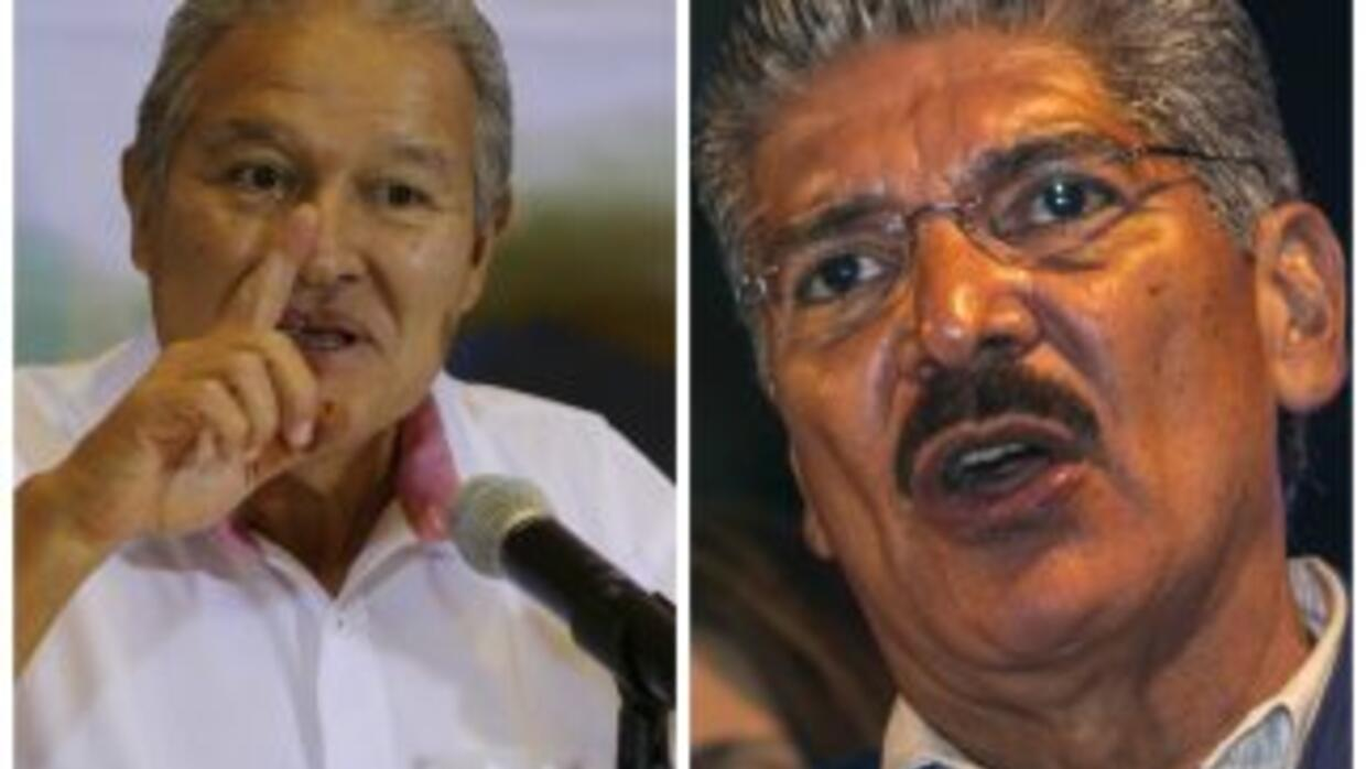Salvador Sánchez Ceren, vide presidente y Norman Quijano, National Repub...