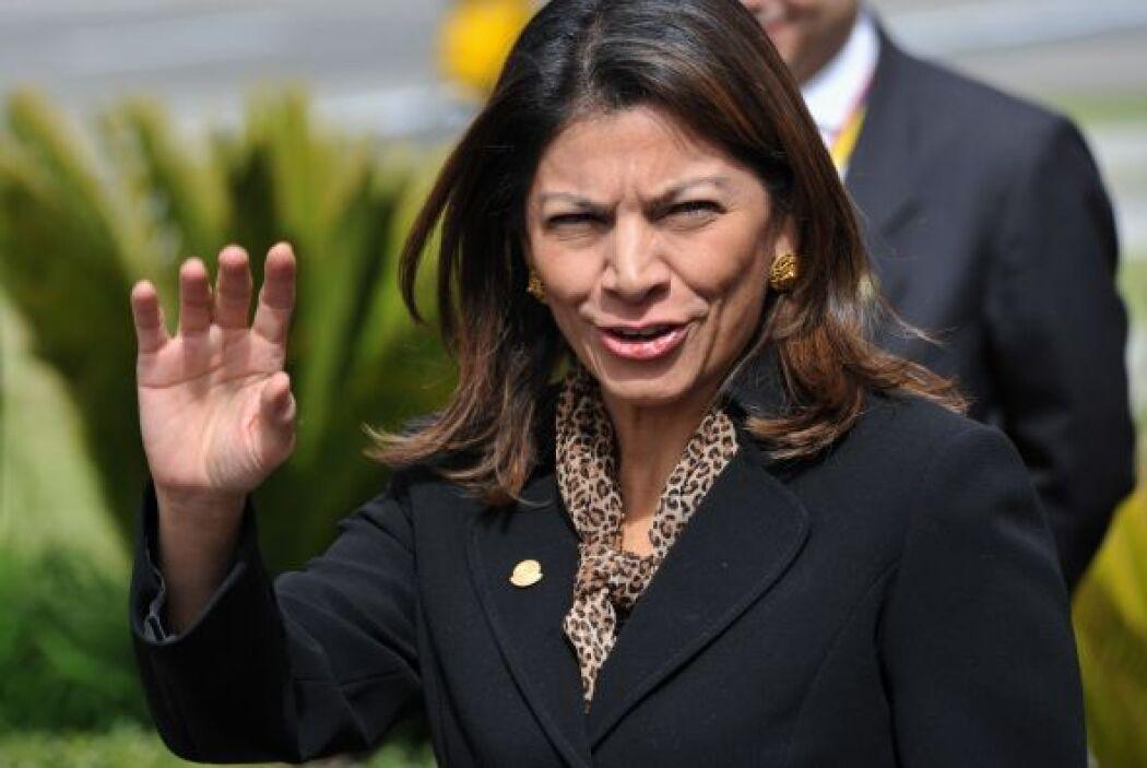 La también recien electa mandataria costarricense Laura Chinchilla.