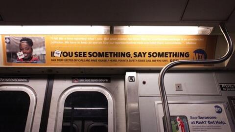 "El ""Si ves algo, di algo"" se ha convertido en un clásic..."