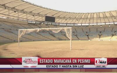 Estadio Maracaná en pésimas condiciones ¡y sin luz!