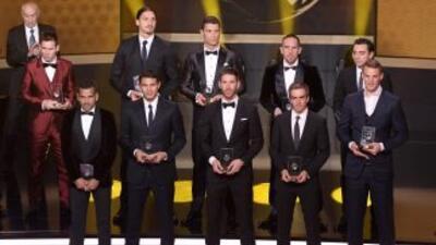 Neuer,Daniel Alves, Sergio Ramos, Thiago Silva, Lahm,Iniesta, Xavi, Fr...