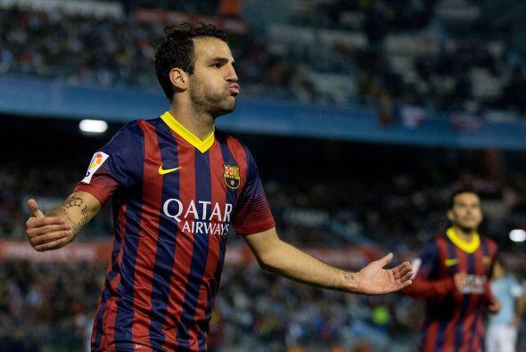 Cesc Fábregas apareció para que el Barcelona ya ganara 2-0.