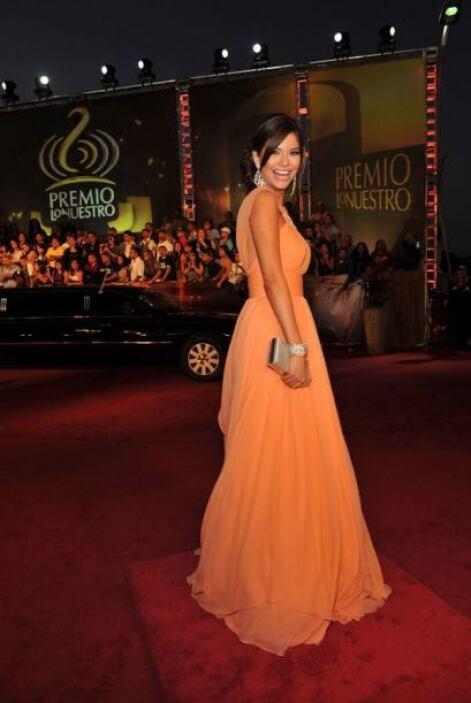 Ana Patricia González con pendientes Juliette.