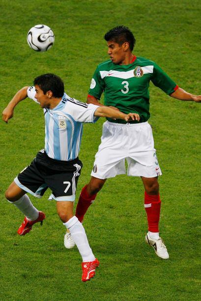 Salcido experimentó la sensación de jugar por primera vez una Copa del M...