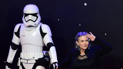 La actriz Carrie Fisher en la premiere de la última pelícu...