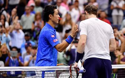 El japonés Kei Nishikori derrotó a Andy Murray
