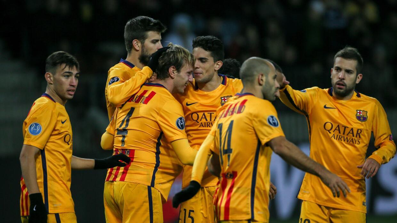 Ivan Rakitic marcó los dos goles del Barcelona.